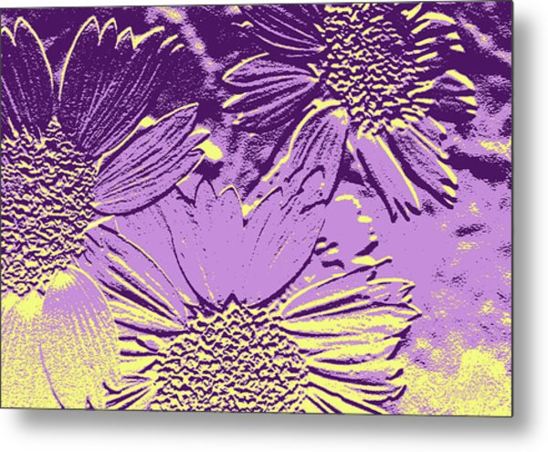 Abstract Flowers 3 Metal Print