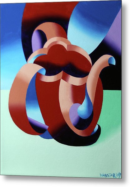 Abstract Futurist Teapot Metal Print by Mark Webster