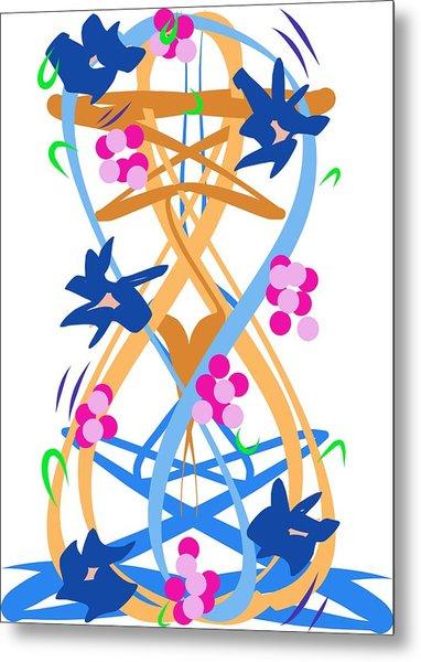 Metal Print featuring the digital art Abstract Garden #3 by Bee-Bee Deigner