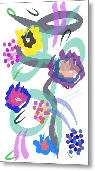 Metal Print featuring the digital art Abstract Garden Nr 4 by Bee-Bee Deigner