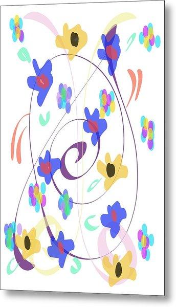 Abstract Garden Nr 7 Naif Style Metal Print