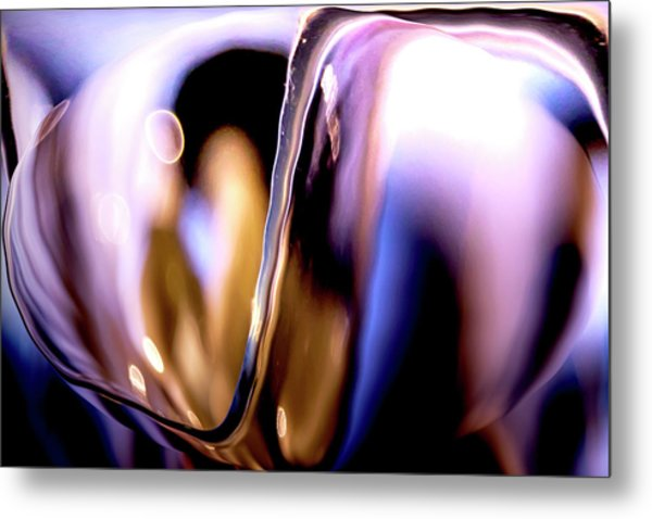 Metal Print featuring the photograph Abstract Glass by Eric Christopher Jackson