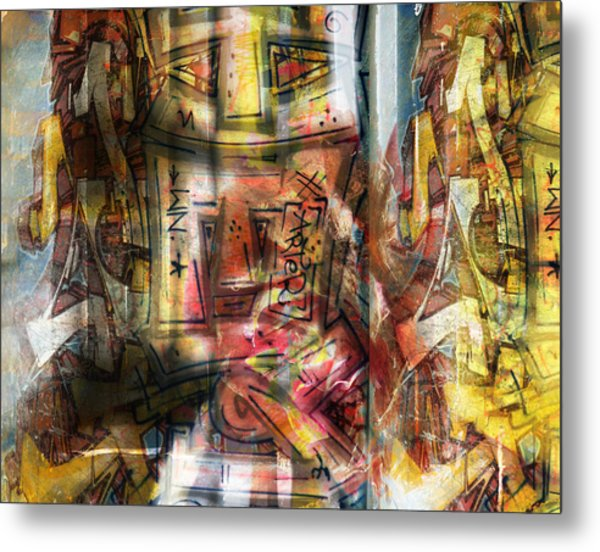 Abstract Graffitis Metal Print by Martine Affre Eisenlohr