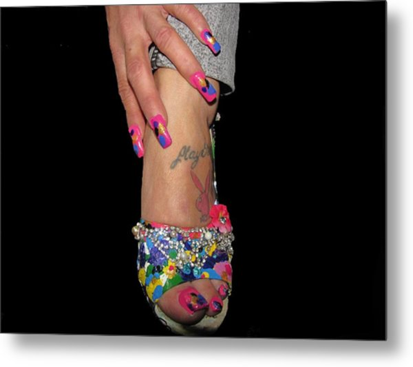 Abstract High Heel Shoe Metal Print by HollyWood Creation By linda zanini