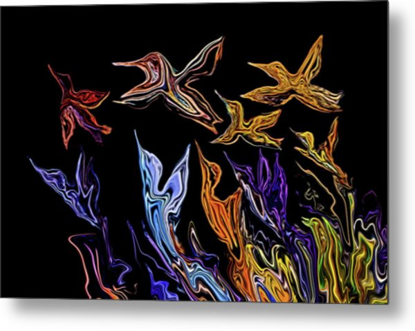 Abstract Hummers Metal Print