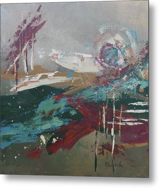 Abstract In Jewel Tones Metal Print by Beth Maddox