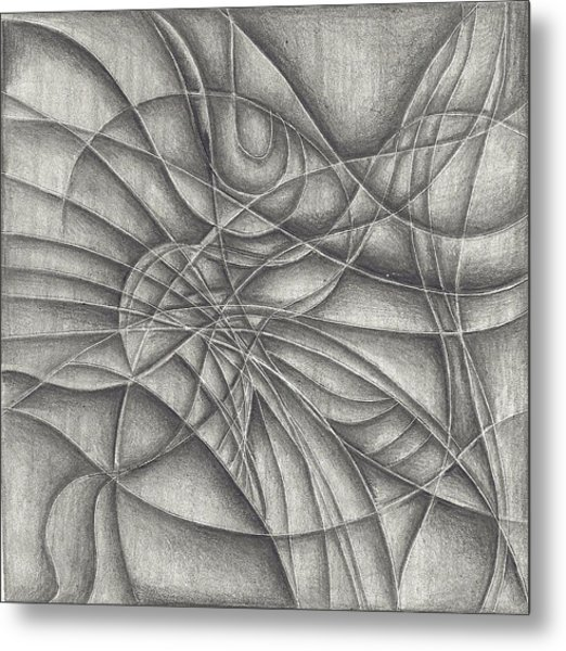 Abstract In Pencile Metal Print