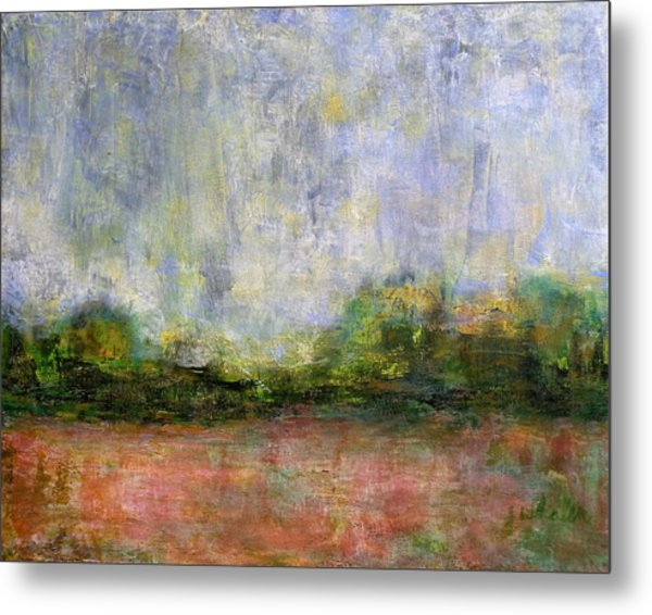Abstract Landscape #310 - Spring Rain Metal Print