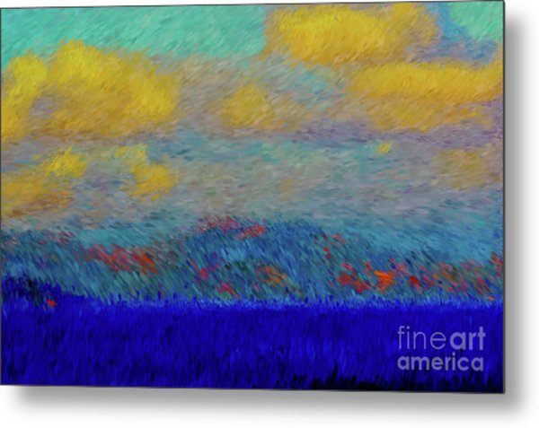Abstract Landscape Expressions Metal Print