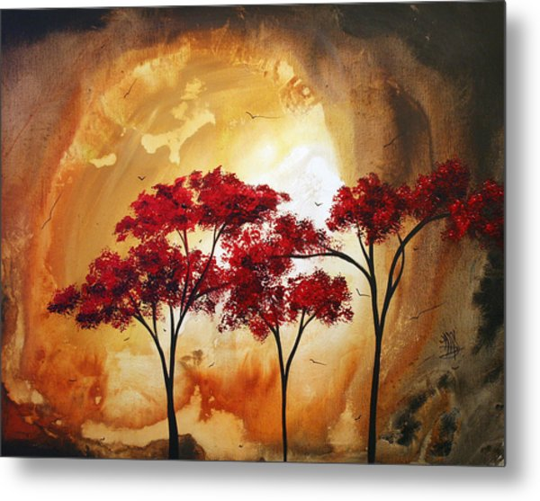 Abstract Landscape Painting Empty Nest 2 By Madart Metal Print