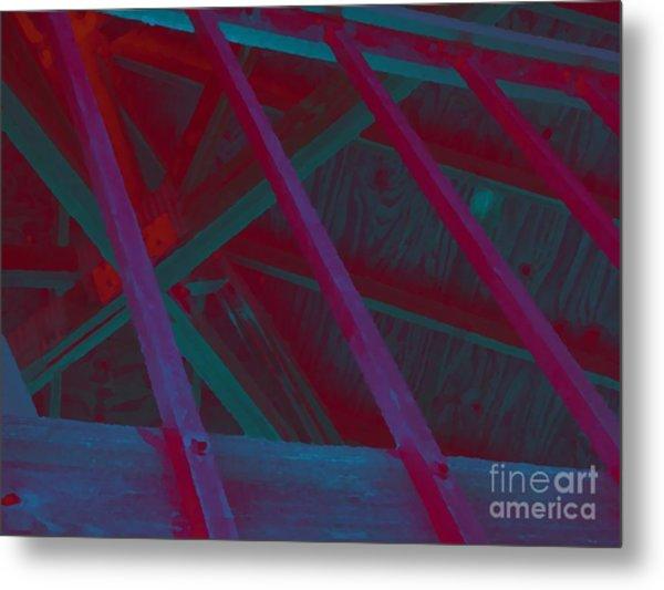 Abstract Line Metal Print by John  Bichler