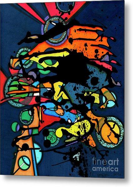 Abstract Man  Metal Print