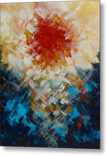 Abstract Blood Moon Metal Print