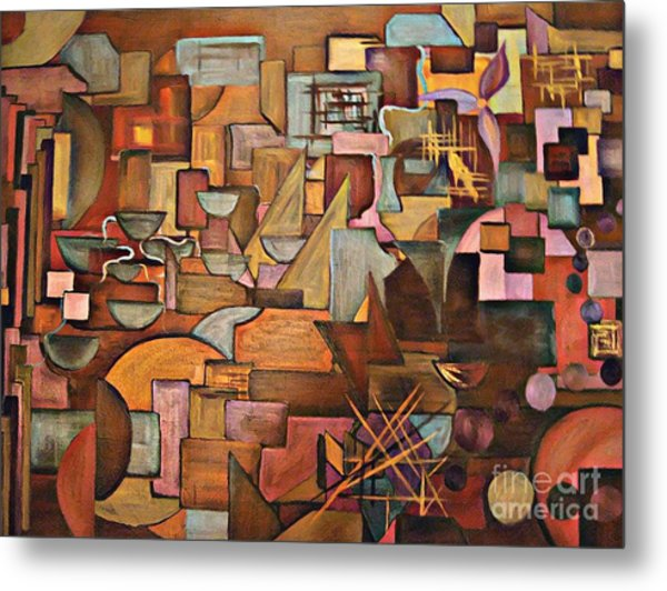 Abstract Mind Metal Print