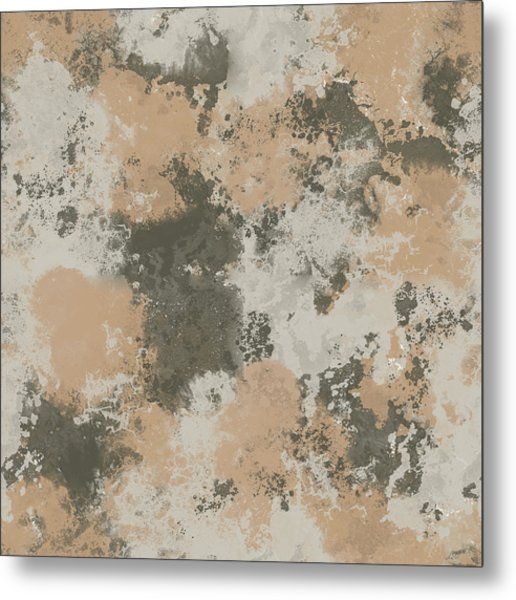 Abstract Mud Puddle Metal Print