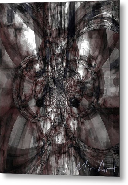 Abstract Neutrals Metal Print
