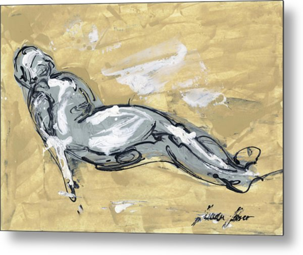 Abstract Nude Metal Print