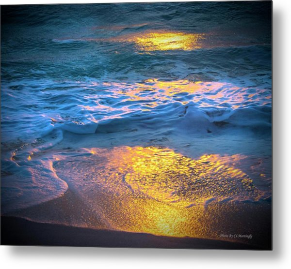 Abstract Of Beach Metal Print