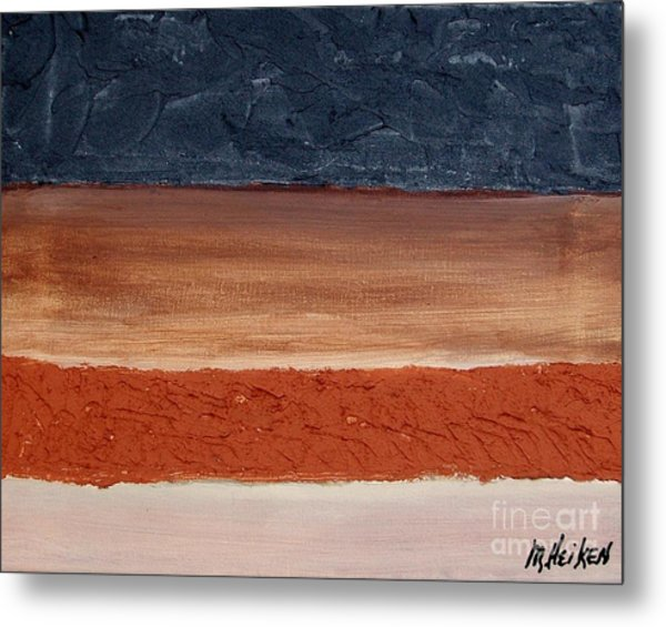 Abstract Of Texture Metal Print by Marsha Heiken