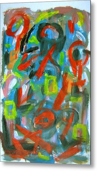 Abstract On Paper No. 20 Metal Print by Michael Henderson