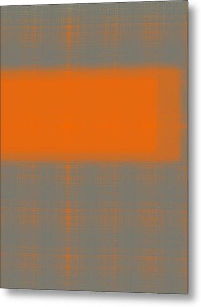 Abstract Orange 3 Metal Print
