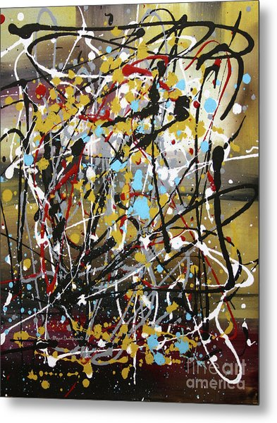 Abstract Original Art Contemporary Painting Energized I By Megan Duncanson Metal Print