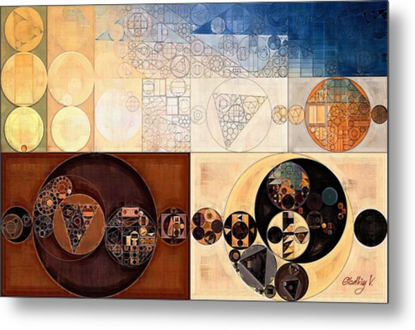 Abstract Painting - Dairy Cream Metal Print