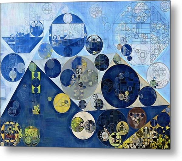 Abstract Painting - Kashmir Blue Metal Print