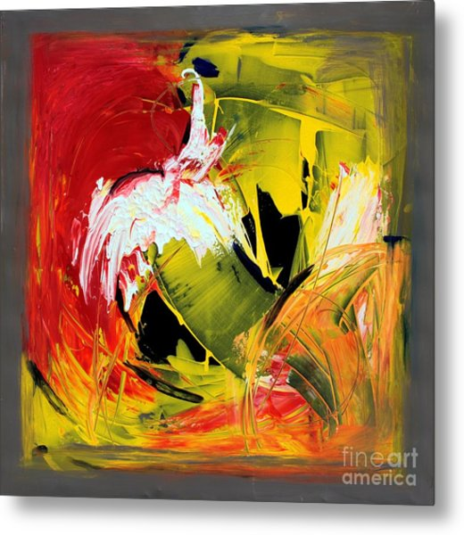 Abstract Painting Metal Print by Mario Zampedroni