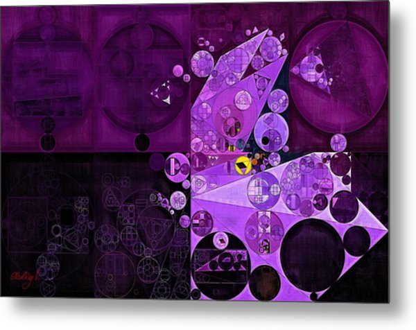Abstract Painting - Rich Lilac Metal Print