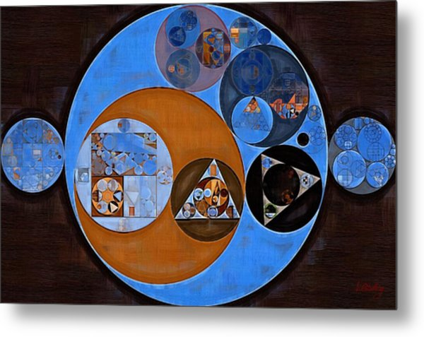 Abstract Painting - Rock Blue Metal Print
