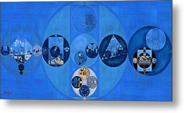 Abstract Painting - Sapphire Metal Print