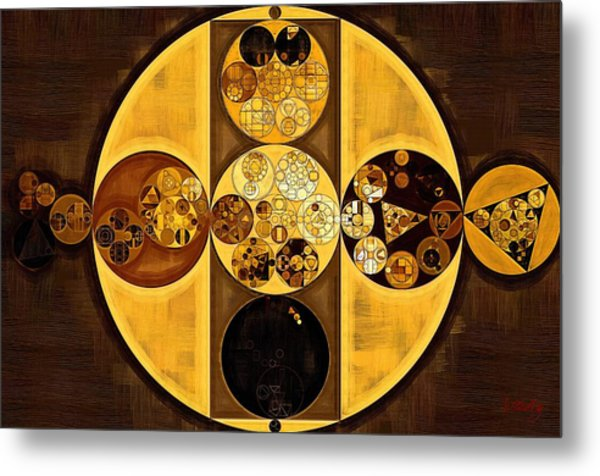 Abstract Painting - Sepia Metal Print