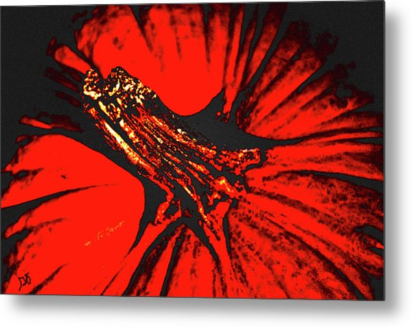 Abstract Pumpkin Stem Metal Print