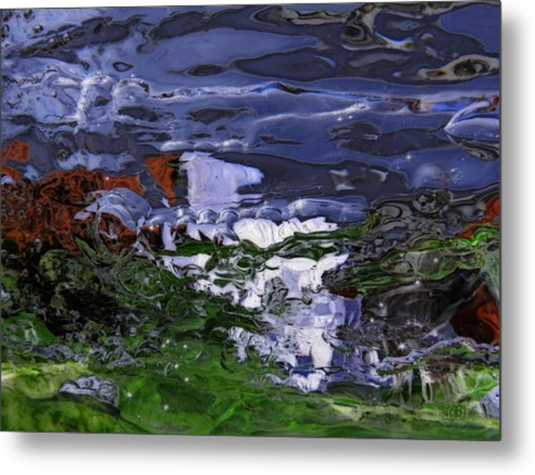 Abstract Rapids Metal Print