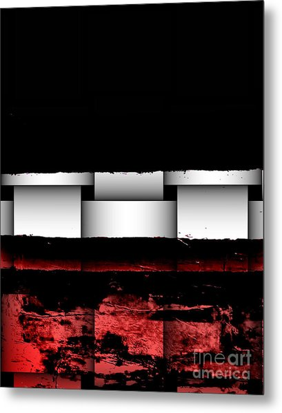 Abstract Red And Black Ll Metal Print by Marsha Heiken