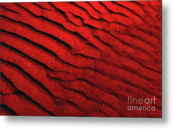 Abstract Red Sand- 2 Metal Print