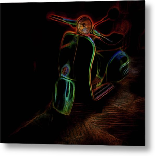 Abstract Scooter Metal Print by Elijah Knight