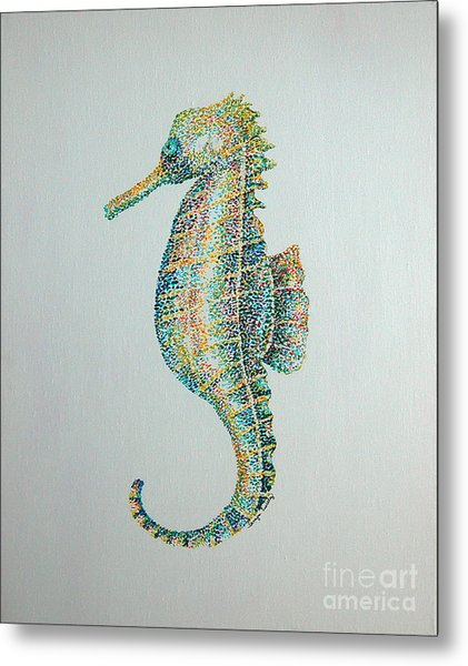 Abstract Seahorse Metal Print