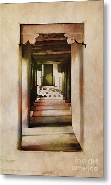 Abstract - Side Entrance Christo Rey Church Metal Print