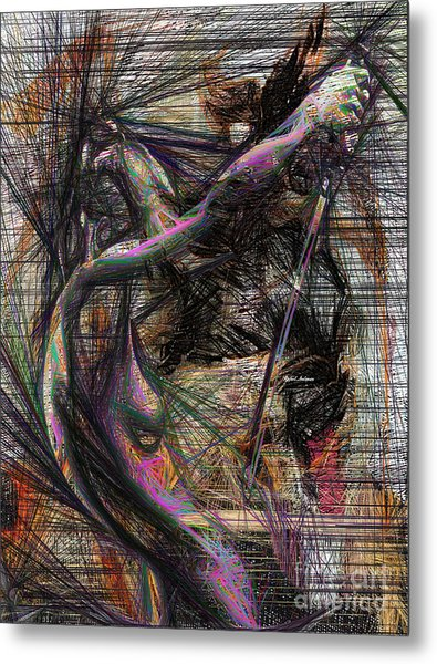 Abstract Sketch 1334 Metal Print
