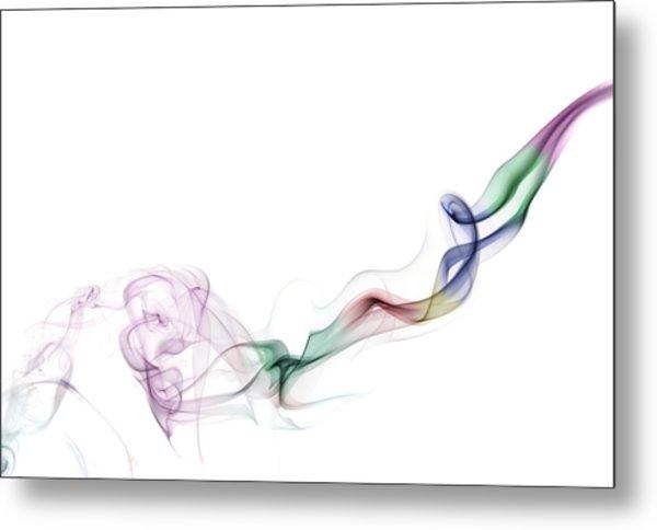 Abstract Smoke Metal Print