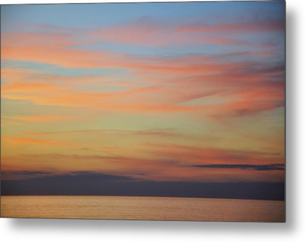 Abstract Sunset By Nature Metal Print by Rose  Hill