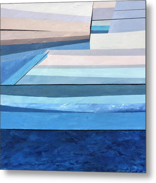 Metal Print featuring the painting Abstract Swimming Pool by Cristina Stefan