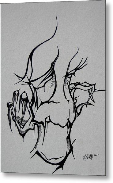 Abstract Tribal  Metal Print
