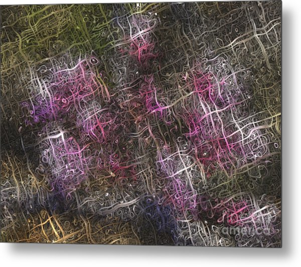 Abstract Tulip Metal Print