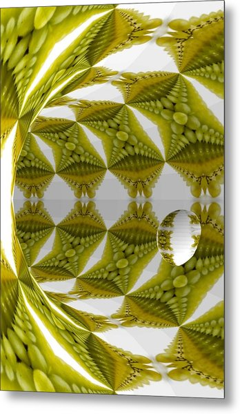 Abstract Tunnel Of Yellow Grapes  Metal Print