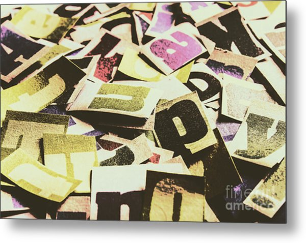 Abstract Typescript Metal Print