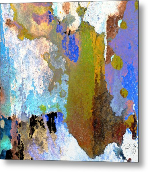 Abstract Wash 1 Metal Print