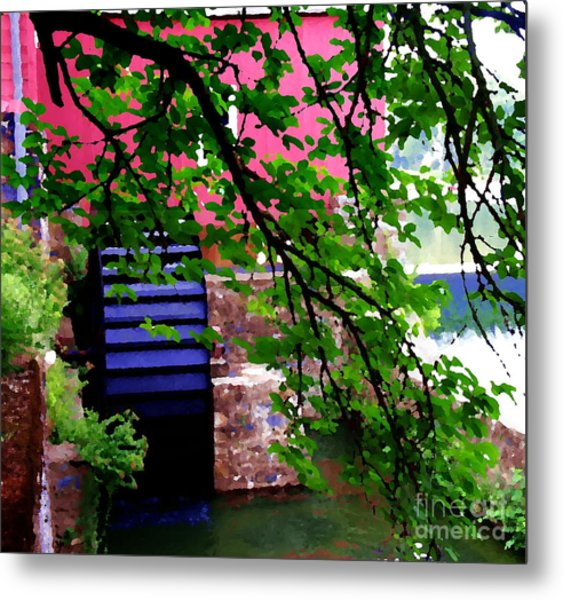 Abstract - Water Wheel Metal Print by Jacqueline M Lewis